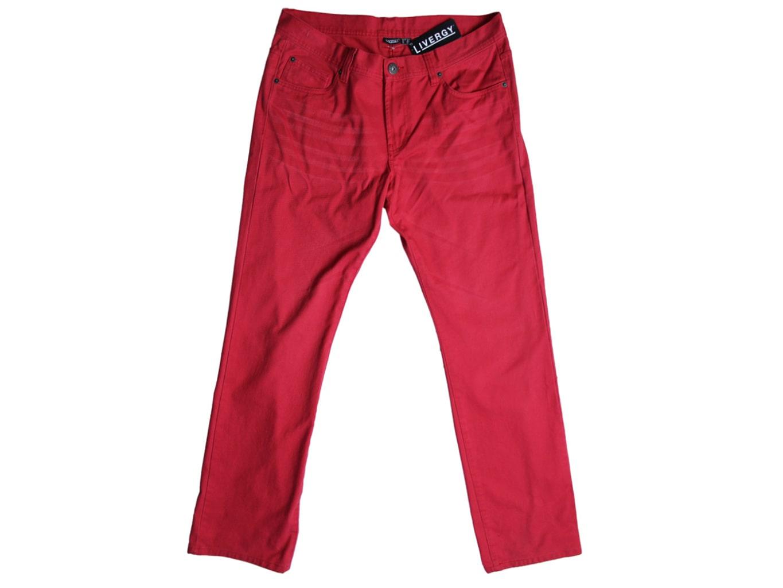 Джинсы мужские красные LIVERGY MODERN STRAIGHT W 38 L 34