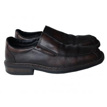 Туфли кожаные мужские коричневые RIEKER 42 размер