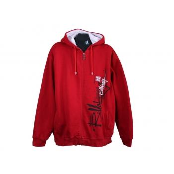 Толстовка красная с капюшоном мужская на молнии BILLABONG, XXL