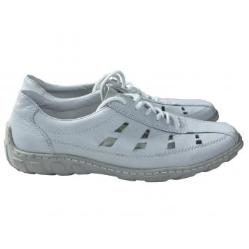 Туфли женские кожаные белые RIEKER 39 размер