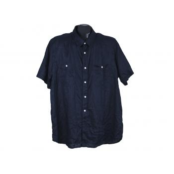 Рубашка льняная мужская синяя AVANT PREMIERE, XL