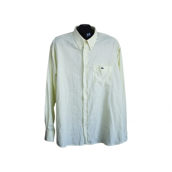 Рубашка однотонная желтая мужская LACOSTE, XL