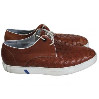 Туфли кожаные мужские плетеные FLORIS VAN BOMMEL 44 размер
