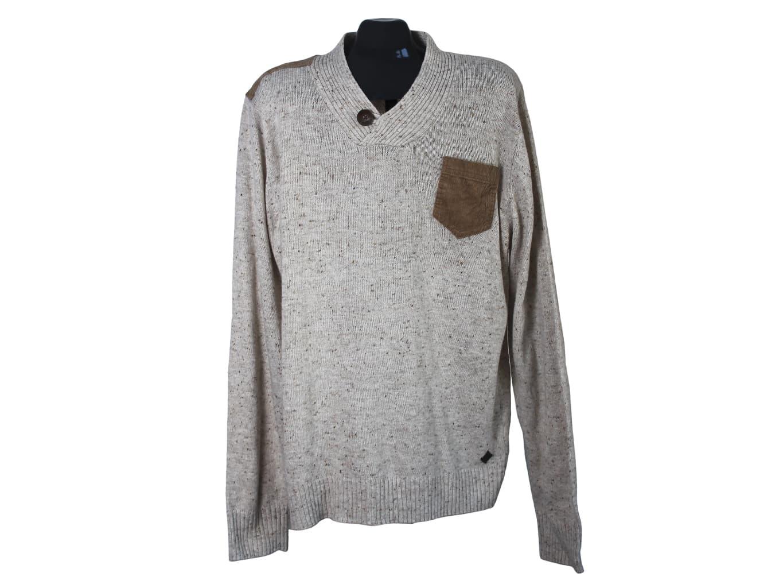 Пуловер шерстяной с шалевым воротником мужской SOHO NEW YORK, XL