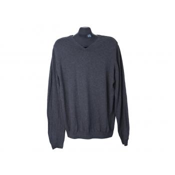 Пуловер мужской хлопковый серый JEAN PASCALE, L