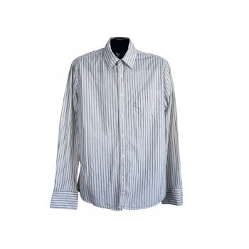 Мужская бежевая рубашка в полоску REPLAY, М