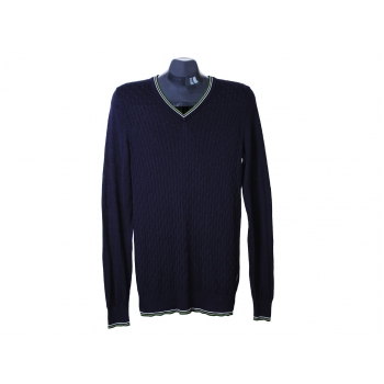 Пуловер мужской из хлопка синий GEOX, S