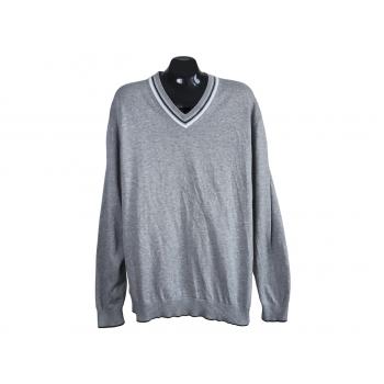 Пуловер хлопковый мужской серый BRAX, XXL