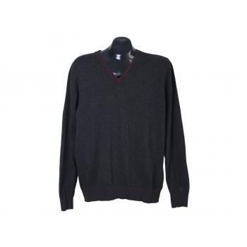 Пуловер из хлопка мужской серый PIERRE CARDIN, M