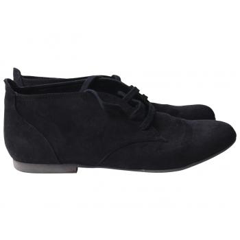 Ботинки замшевые женские черные 42 размер