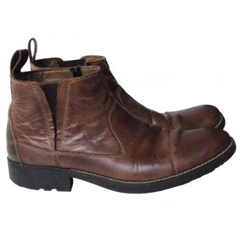 Ботинки мужские кожаные коричневые RIEKER 42 размер