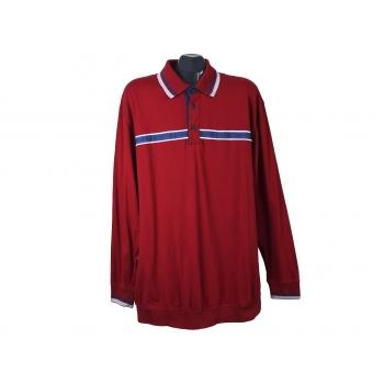 Мужское красное поло с длинным рукавом MEN PLUS, XL