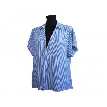 Блуза женская голубая в полоску TOMMY HILFIGER, M