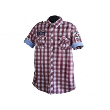 Рубашка мужская красная в клетку SCOTCH & SODA, L