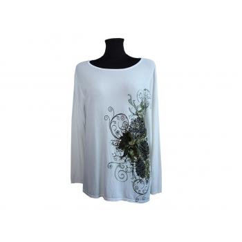 Блуза женская из вискозы со стразами, L