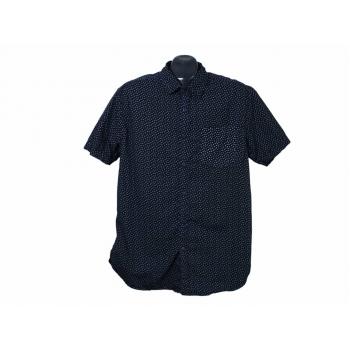Рубашка мужская синяя DENIM & FLOWER, M