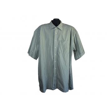 Рубашка мужская зеленая в полоску ETERNA EXCELLENT, 3XL