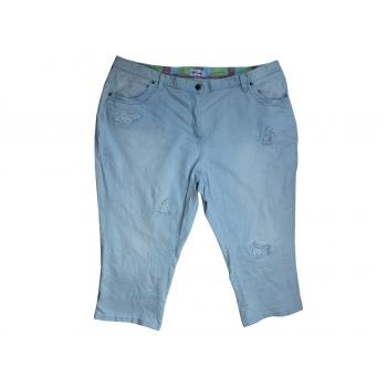 Бриджи джинсовые женские голубые ULLA POPKEN EUR 56