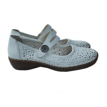 Туфли кожаные женские белые RIEKER 38 размер