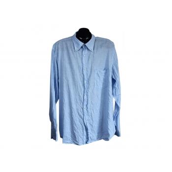 Мужская льняная голубая рубашка PIERRE CARDIN, XL
