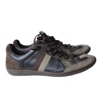 Кроссовки кожаные мужские коричневые NAPAPIJRI 44 размер