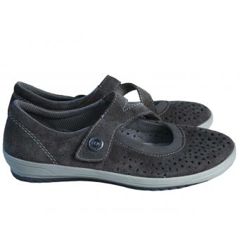 Туфли женские замшевые с перфорацией RIEKER 40 размер