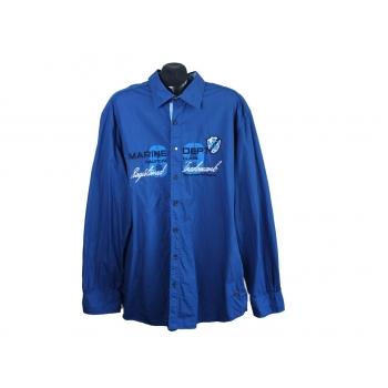 Рубашка мужская синяя MARINE DEPT, XXL