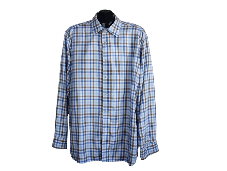 Мужская рубашка в клетку MARKS & SPENCER, L