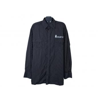 Рубашка черная мужская ANGELO LITRICO REINVENTED, 6XL