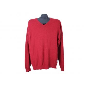 Пуловер шерстяной красный мужской CLIPPER, L