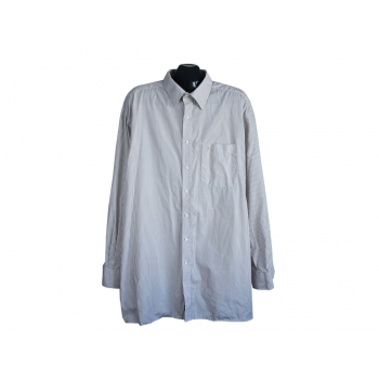 Рубашка мужская бежевая в полоску ETERNA EXCELLENT, 4XL