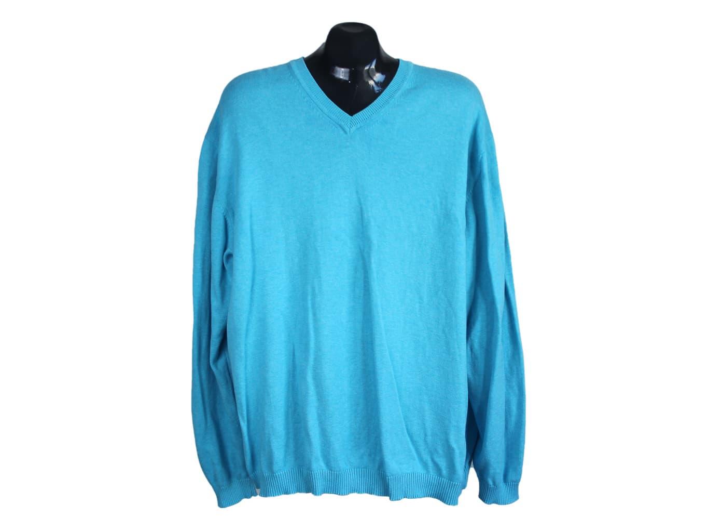 Пуловер кашемировый мужской голубой FINSHLEY & HARDING, XXL