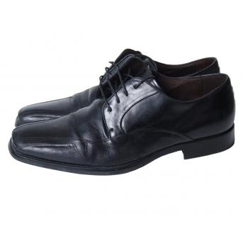 Туфли кожаные черные мужские MANFIELD 44 размер
