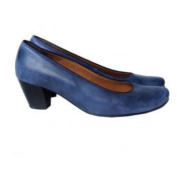 Туфли кожаные синие женские JENNY by ARA 39 размер
