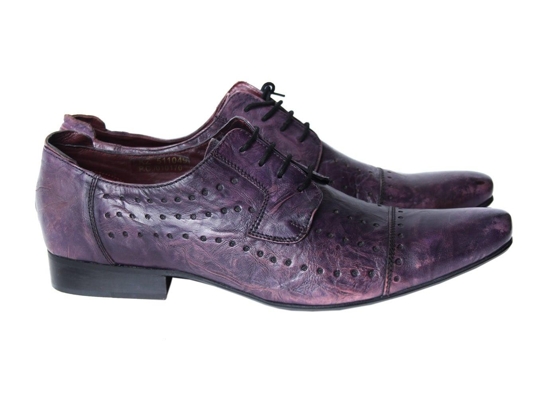 Туфли кожаные фиолетовые мужские BRUNO BANANI 45 размер