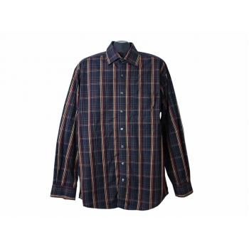 Рубашка синяя в клетку мужская BUGELFREI ANGELO LITRICO, XL