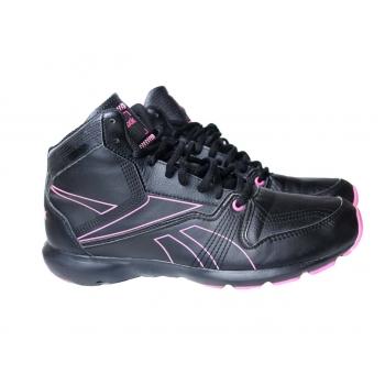 Кроссовки черные кожаные женские REEBOK 38 размер