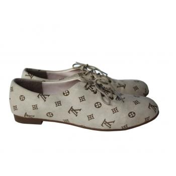 Туфли с рисунком бежевые женские 36 размер