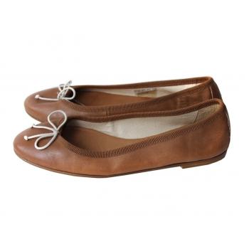 Балетки кожаные коричневые женские MAX 37 размер