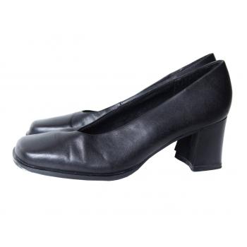 Туфли черные кожаные женские GINO VENTORI 37 размер