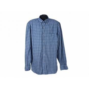Рубашка голубая в клетку мужская NAUTICA, XL
