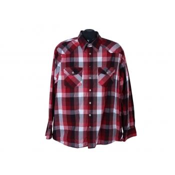 Рубашка красная в клетку мужская ENGBERS, XL