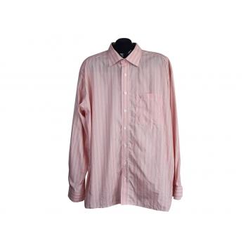 Рубашка бежевая мужская в полоску EXCELLENT ETERNA, XXL