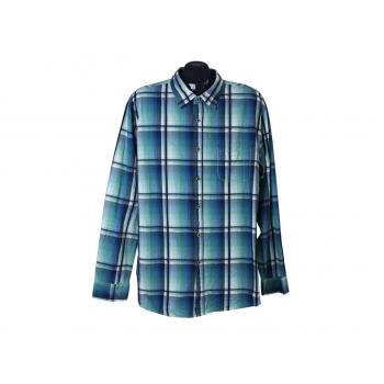 Рубашка синяя в клетку мужская MANTARAY, XL