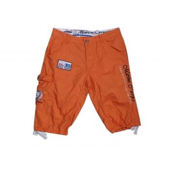 Шорты длинные оранжевые мужские MARINE CORPS W 32