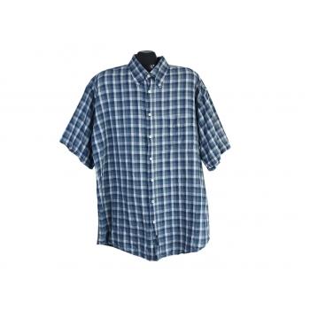 Рубашка льняная в клетку мужская GANT, XXL