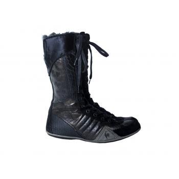 Кроссовки женские высокие кожаные на шнурках LE COQ SPORTIF 38 размер