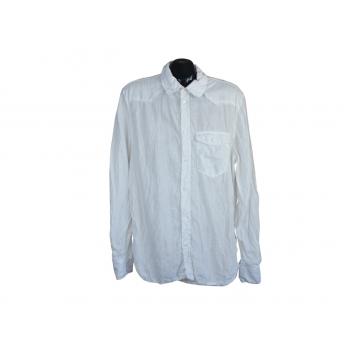 Рубашка льняная белая мужская, М