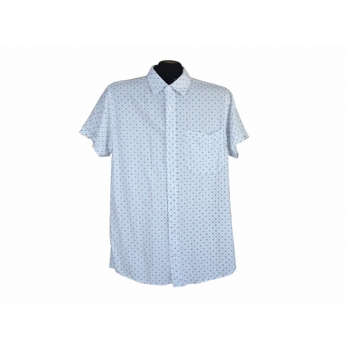 Рубашка белая с узором мужская DRESSMANN, S