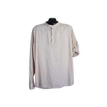 Рубашка бежевая мужская PREMIUM COMPANY, XL